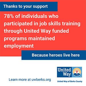 Image reading thanks to your support 78% of individuals who participated in job skills training through United Way funded programs maintained employment because heroes live here
