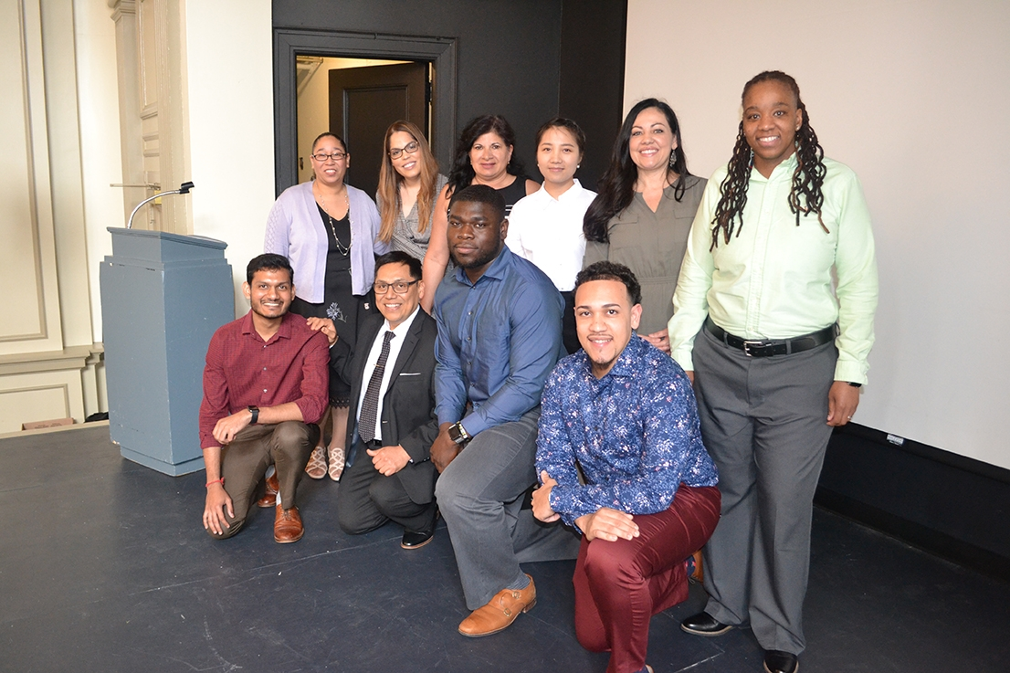Blueprint for Leadership group of diverse individuals smiling
